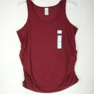 Time and Tru Womens Maternity Tank Top XL Maroon